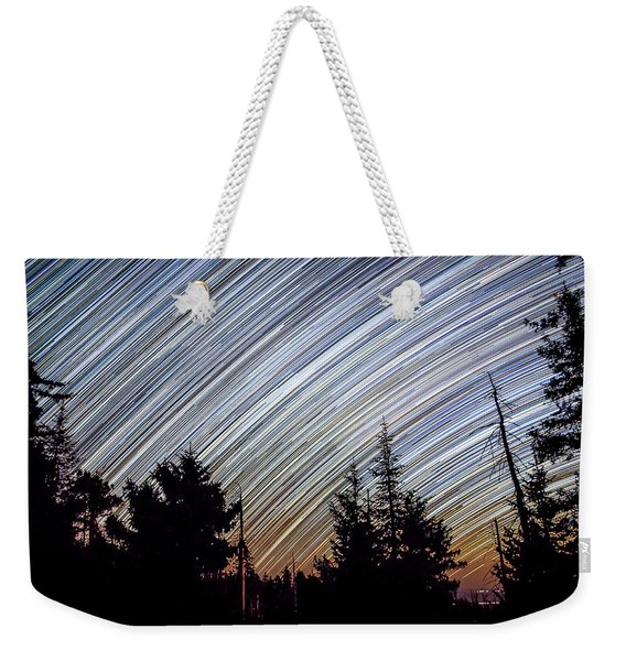 Star Trails From Mt. Graham Weekender Tote Bag
