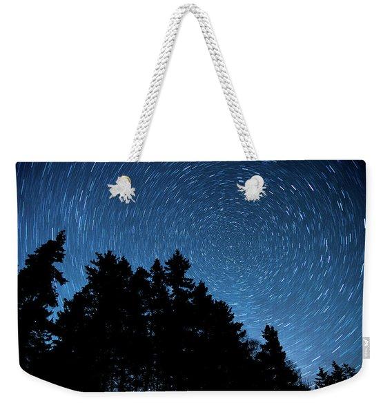 Star Trails In Acadia Weekender Tote Bag