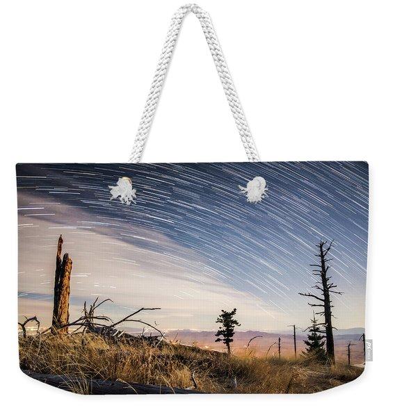 Star Trails Over Mt. Graham Weekender Tote Bag