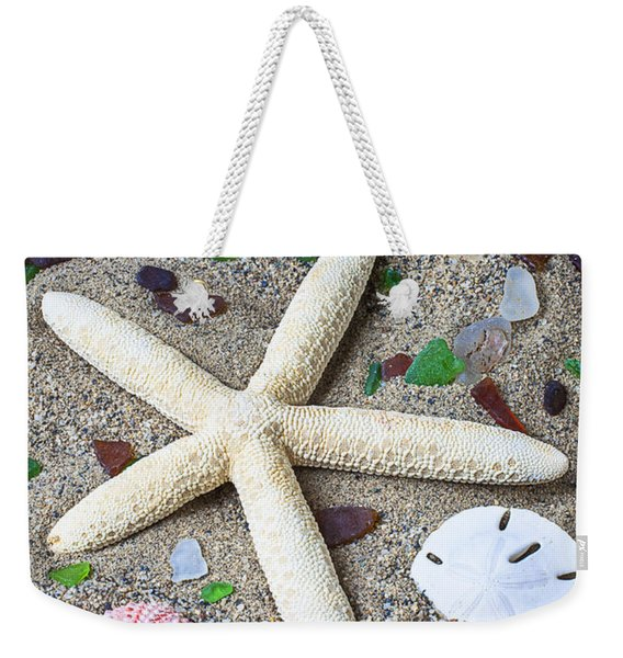 Starfish Beach Still Life Weekender Tote Bag