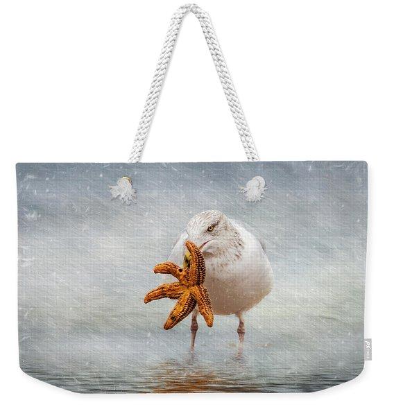 Starfish For Dinner Weekender Tote Bag