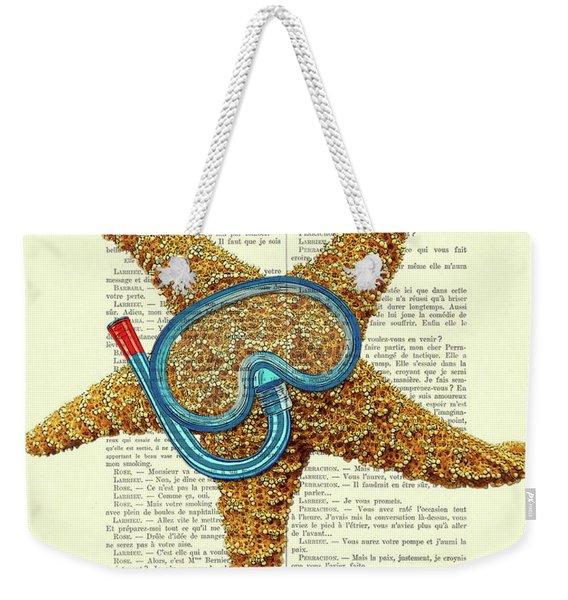 Starfish Illustration Weekender Tote Bag