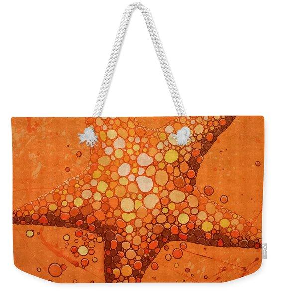 Starfish In Coral Weekender Tote Bag