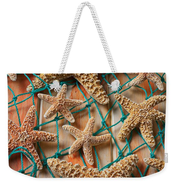 Starfish In Net Weekender Tote Bag