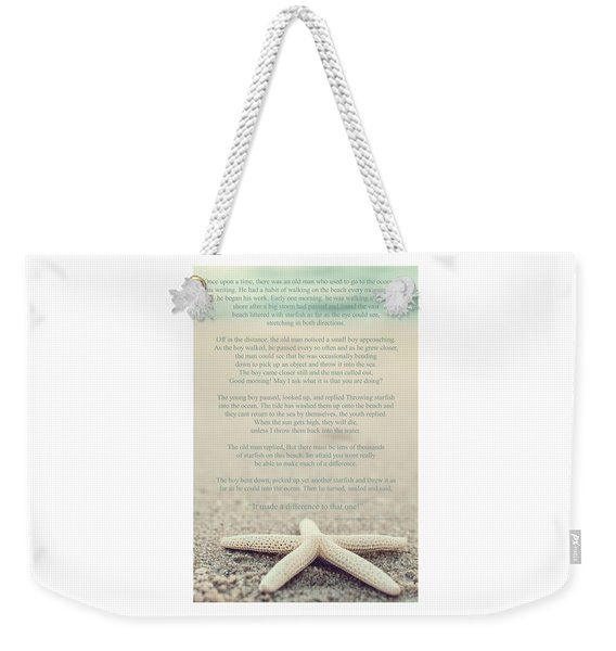 Starfish Make A Difference Vintage Set 1 Weekender Tote Bag