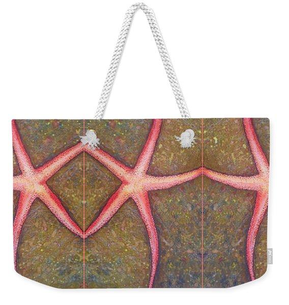 Starfish Pattern Bar Weekender Tote Bag
