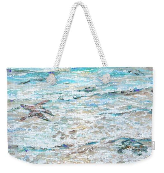 Starfish Under Shallows Weekender Tote Bag