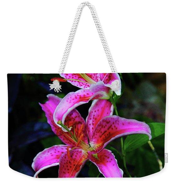 Stargazer Lily Weekender Tote Bag