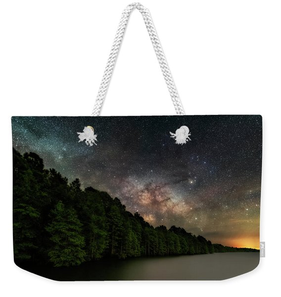 Starlight Swimming Weekender Tote Bag