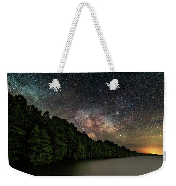 Starlight Swimming Weekender Tote Bag