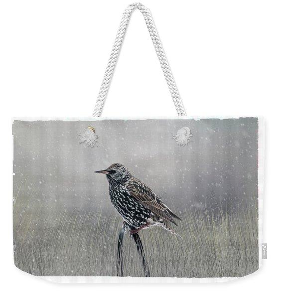 Starling In Winter Weekender Tote Bag
