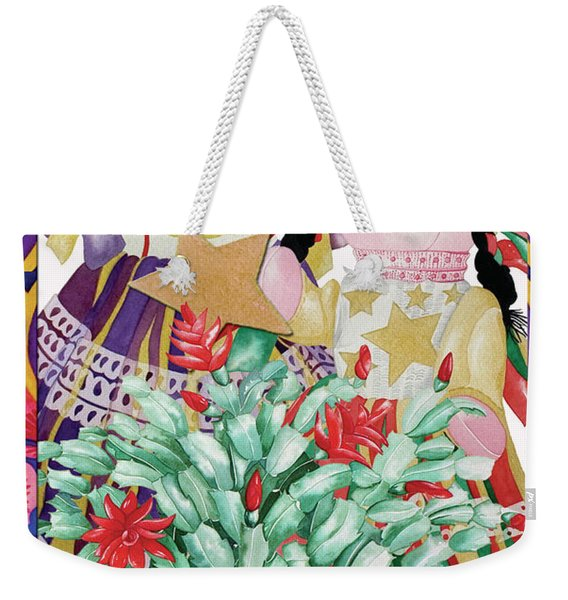 Starring The Christmas Cactus Weekender Tote Bag