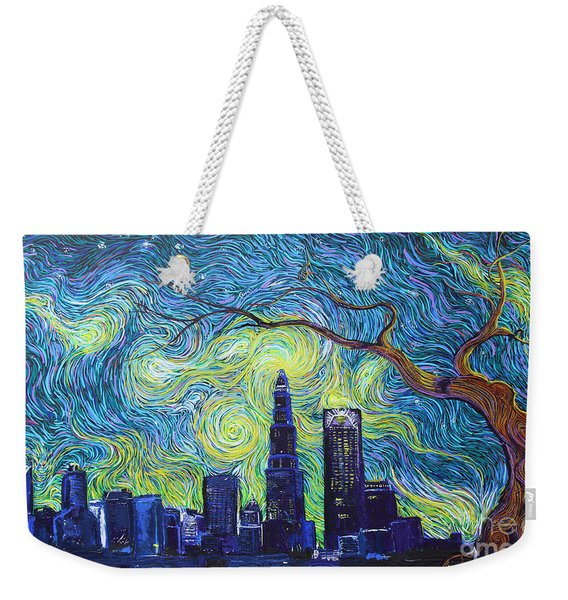 Starry Night Over The Queen City Weekender Tote Bag