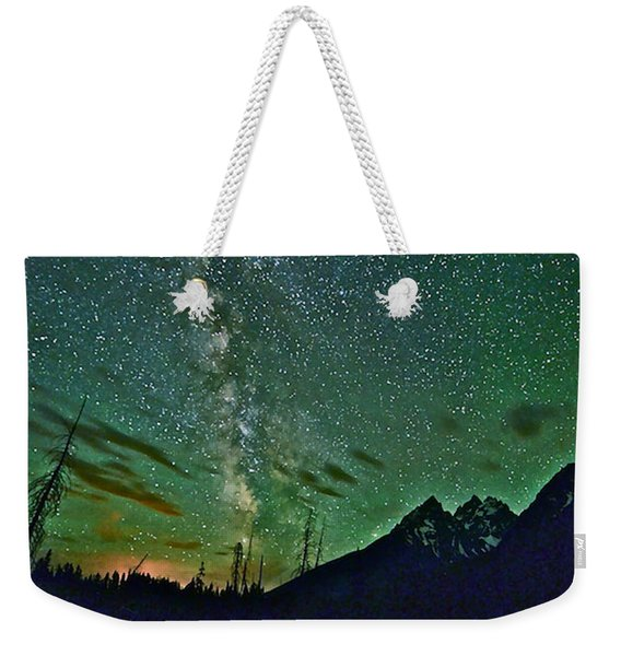 Starry Night Over The Tetons Weekender Tote Bag