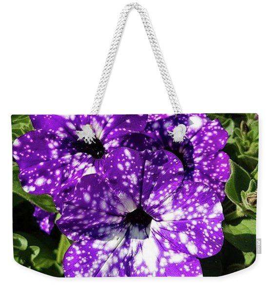 Starry Petunias... Weekender Tote Bag