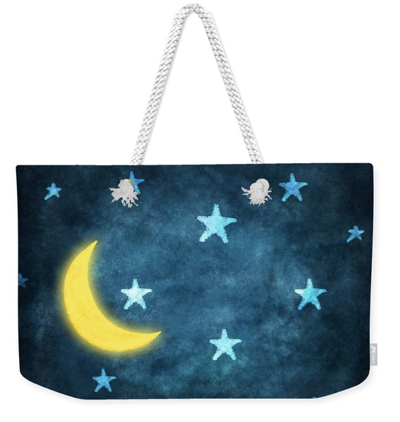 Stars And Moon Drawing With Chalk Weekender Tote Bag