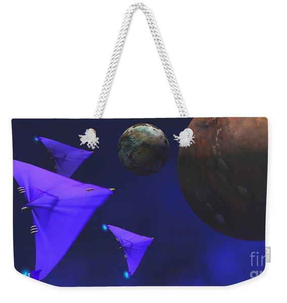 Starship Travel Weekender Tote Bag