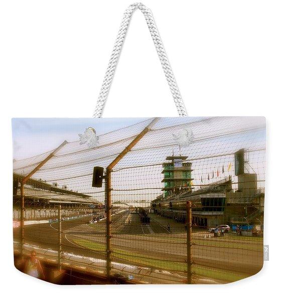 Start Finish Indianapolis Motor Speedway Weekender Tote Bag