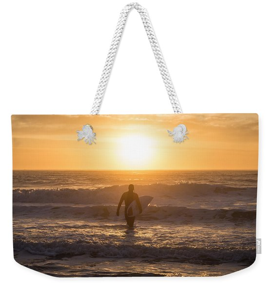Start The Day Surfing Weekender Tote Bag