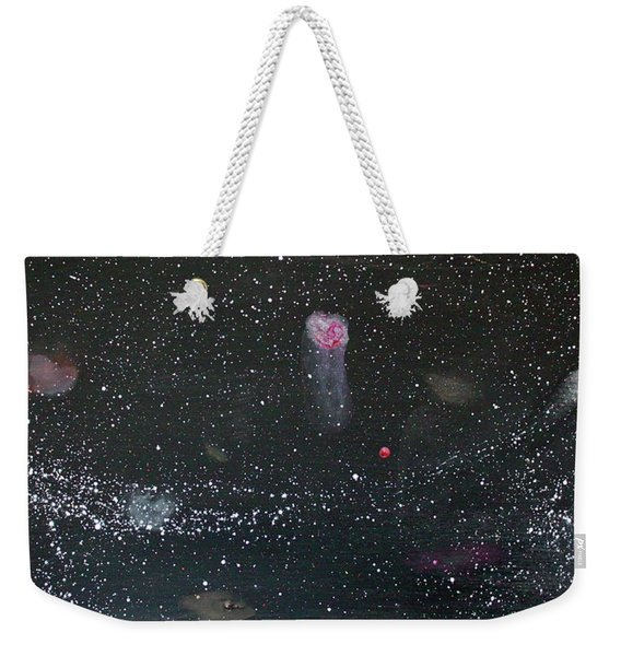 Weekender Tote Bag featuring the painting Starry Night by Michael Lucarelli