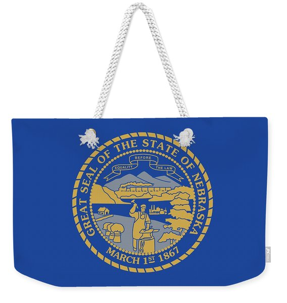 State Flag Of Nebraska Weekender Tote Bag