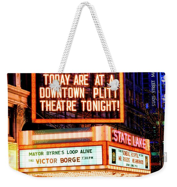 State-lake Theater Weekender Tote Bag