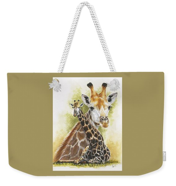 Weekender Tote Bag featuring the mixed media Stateliness by Barbara Keith