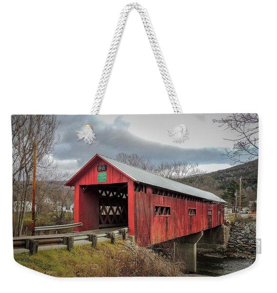 Station Covered Bridge Weekender Tote Bag