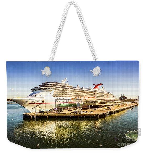 Station Pier Cruise Weekender Tote Bag