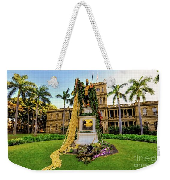 Statue Of, King Kamehameha The Great Weekender Tote Bag