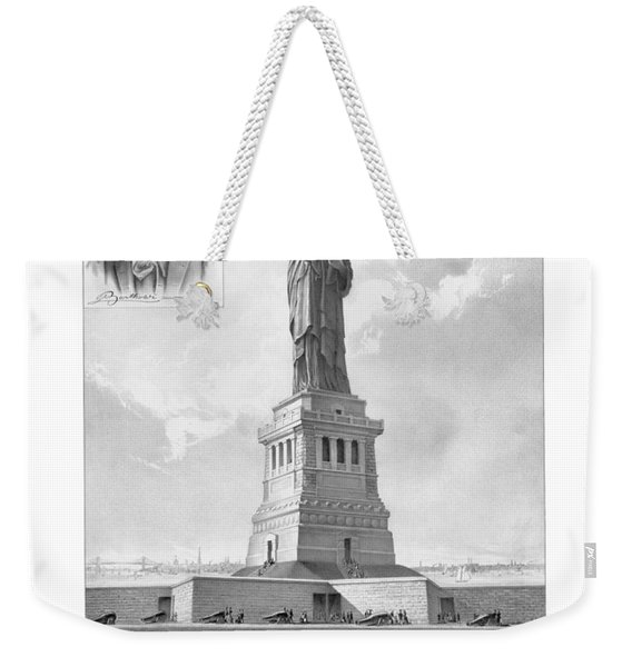 Statue Of Liberty And Bartholdi Portrait Weekender Tote Bag