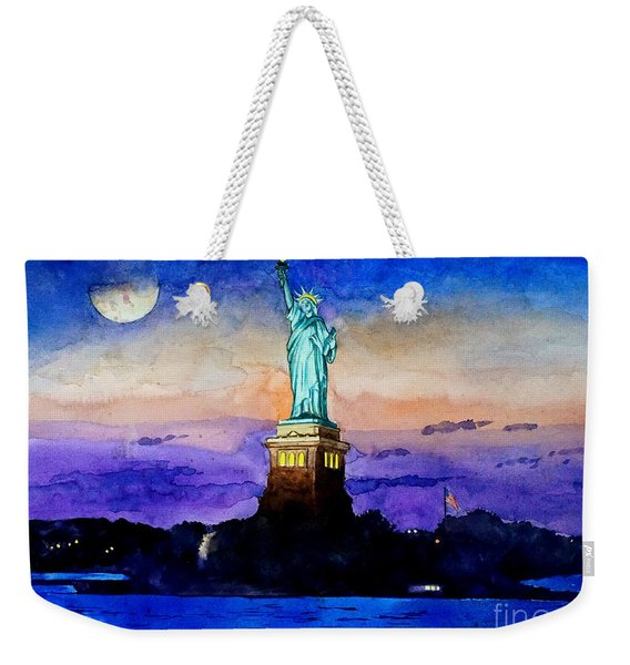 Statue Of Liberty New York Weekender Tote Bag