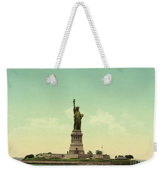 Statue Of Liberty, New York Harbor Weekender Tote Bag