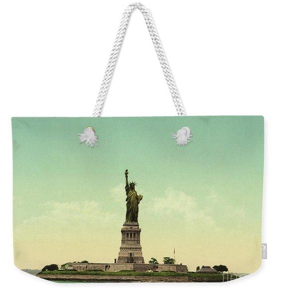 Statue Of Liberty, New York Harbor Weekender Tote Bag
