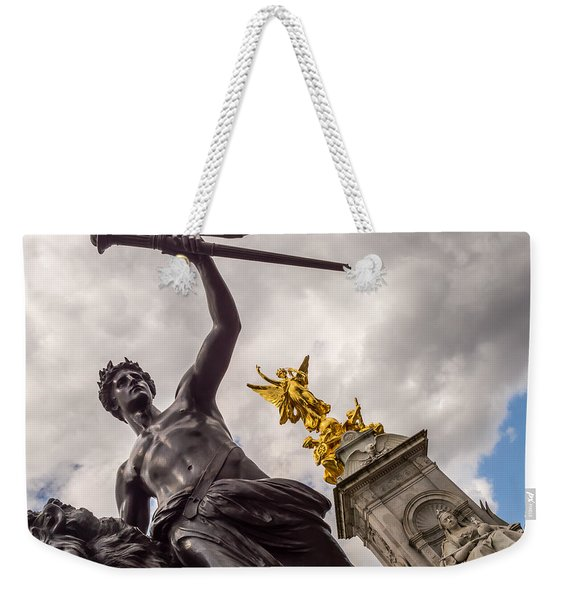 Statues In Front Of Buckingham Palace Weekender Tote Bag
