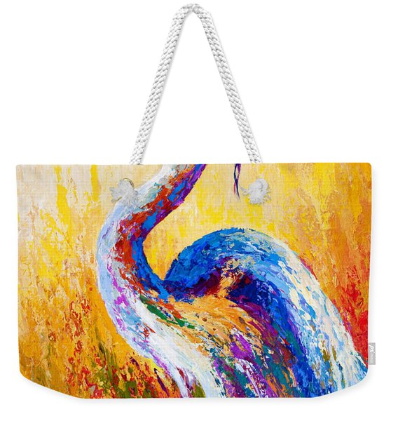 Steady Gaze - Great Blue Heron Weekender Tote Bag