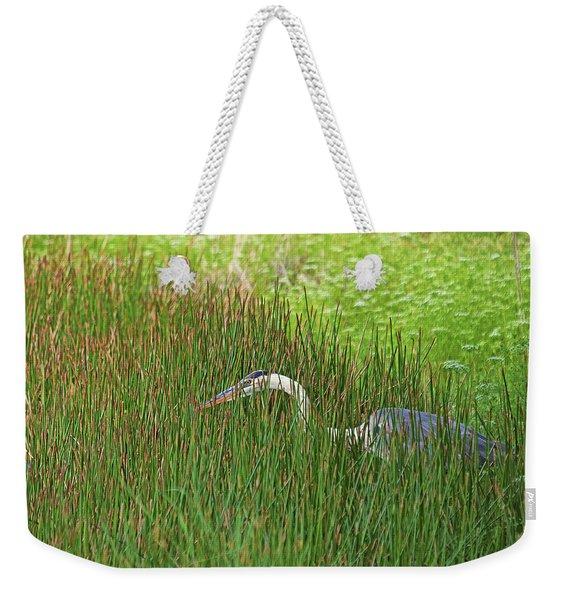 Stealth Heron Weekender Tote Bag