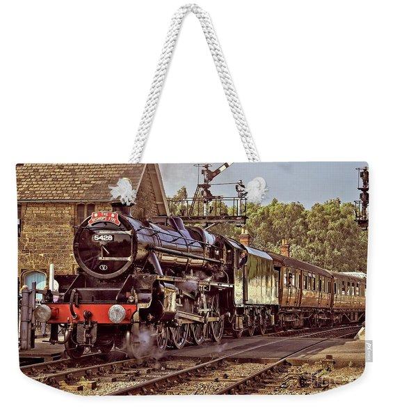 Steam Loco On Yorkshire Railway Weekender Tote Bag