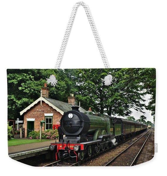 Steam Locomotive In England Weekender Tote Bag