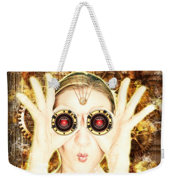Steam Punk Lady With Bins Weekender Tote Bag