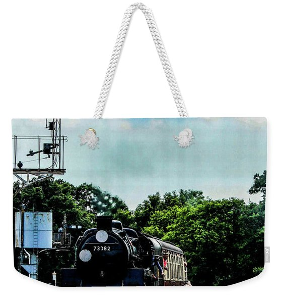 Steam Train Approaching Weekender Tote Bag