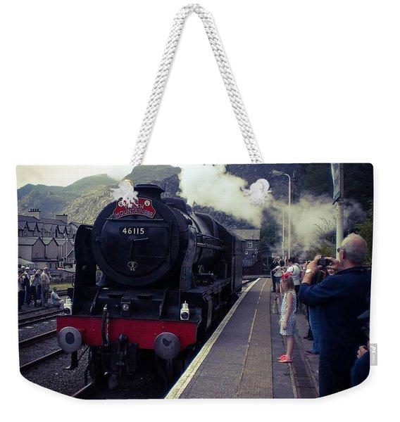 Steam Train, Ffestiniog, North Wales Weekender Tote Bag