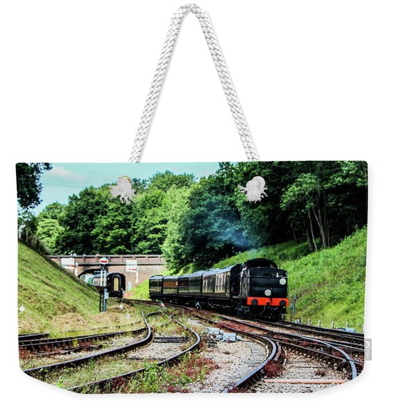 Steam Train Nr The Bridge Weekender Tote Bag