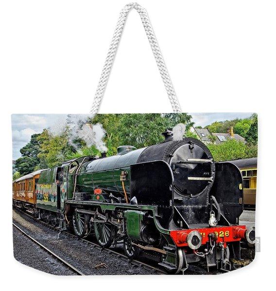 Steam Train On North York Moors Railway Weekender Tote Bag