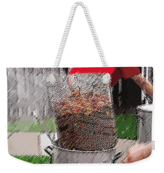 Steaming Mud Bugs For Falvor Weekender Tote Bag