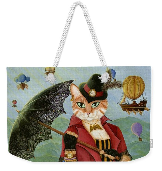 Steampunk Cat Gal - Victorian Cat Weekender Tote Bag