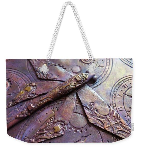 Steampunk Dragonfly Weekender Tote Bag