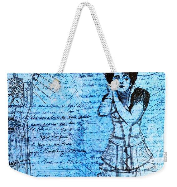 Steampunk Girls In Blues Weekender Tote Bag