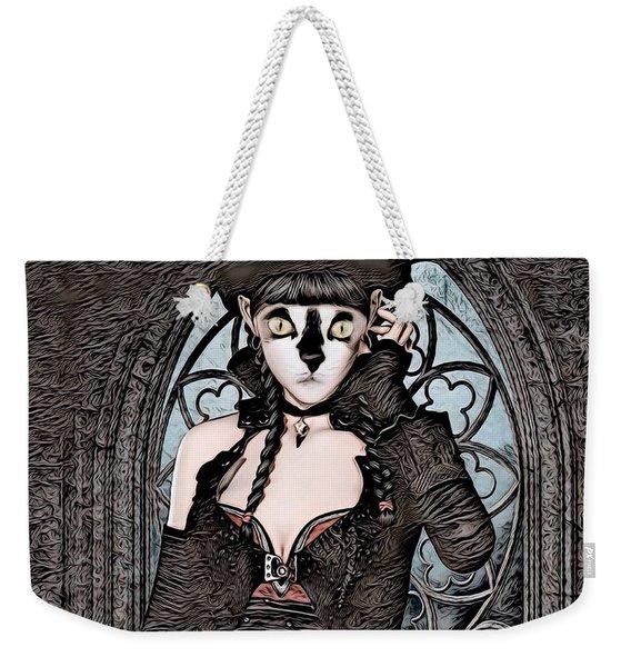 Steampunk Kitty By Artful Oasis Weekender Tote Bag