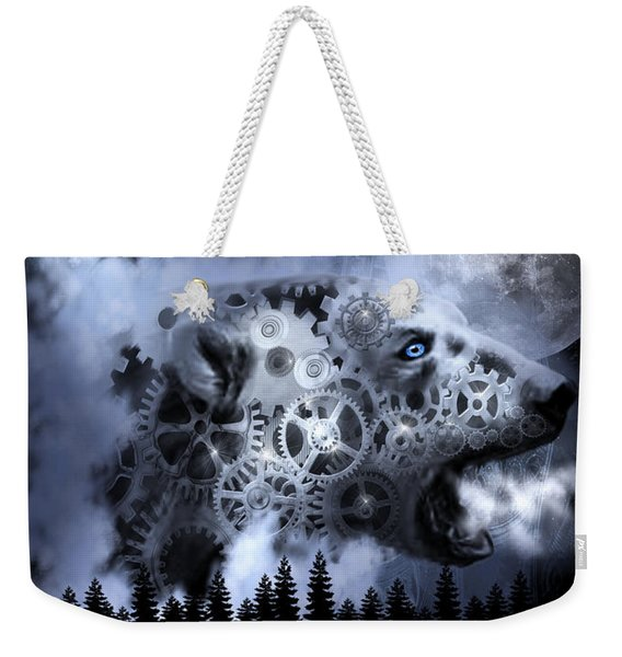 Steampunk Polar Bear Landscape Weekender Tote Bag